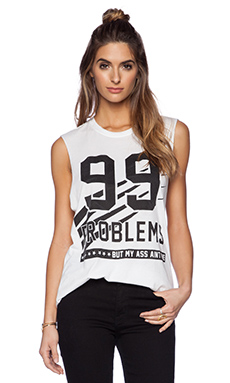 The Laundry Room 99 Problems Muscle Tee in White