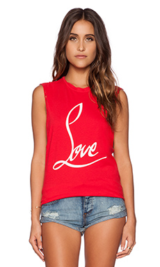 The Laundry Room Love Muscle Tee in Red Hot