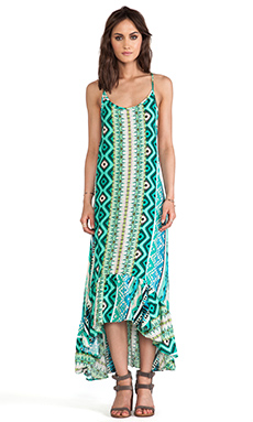 Tylie Mayan Maxi Dress in Sea