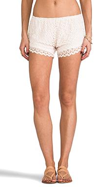 Tylie Crochet Shorts in Ivory