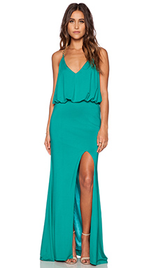 Toby Heart Ginger x Love Indie Chain T Back Maxi Dress in Green & Gold