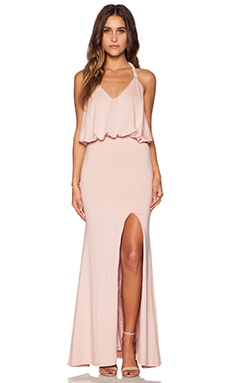 Toby Heart Ginger x Love Indie Jewel T-Back Dress in Dusty Pink