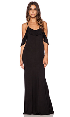 Toby Heart Ginger x Love Indie Happy In Frills Maxi Dress in Black