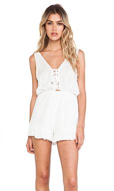 Toby Heart Ginger Coco Cabana Playsuit in White