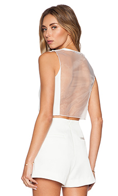 Toby Heart Ginger Luna Crop Top in White