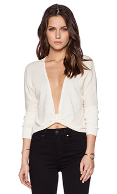 Toby Heart Ginger Bow Knit Top in Cream