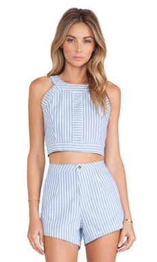 Toby Heart Ginger Jagger Crop in Chambray