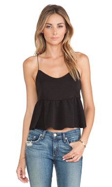 Toby Heart Ginger Willow Tank in Black