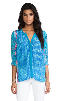 Tolani June Blouse in Turquoise