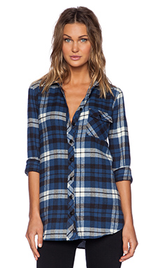 Tolani Emma Button Up in Blue