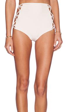 Tori Praver Swimwear Lotus Bikini Bottom in Seashell