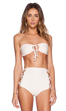 Tori Praver Swimwear Lotus Bikini Top in Seashell