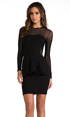 Torn by Ronny Kobo Lima Mesh Dress in Black