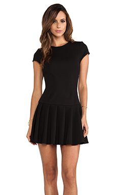 Torn by Ronny Kobo Gina Short Sleeve Dress in Black