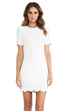 Torn by Ronny Kobo Tanya Shift Dress in White