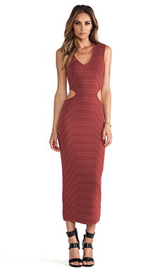 Torn by Ronny Kobo Alexa Dress in Hanna Brown