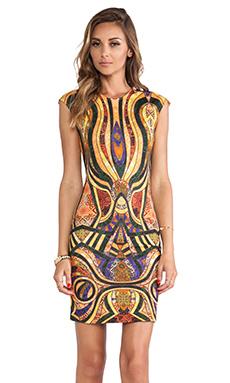 Torn by Ronny Kobo Morgan Dress in Gold Multi