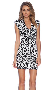 Torn by Ronny Kobo Leanna Dress in White & Black
