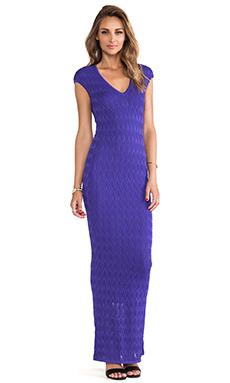 Torn by Ronny Kobo Ramona Long Dress in Purple