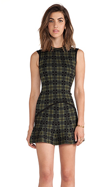 Torn by Ronny Kobo Fal Dress in Cabin Plaid