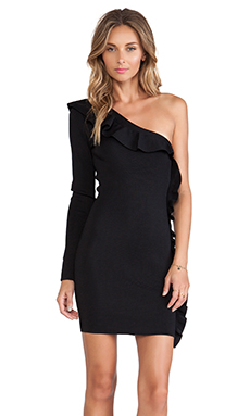 Torn by Ronny Kobo Franca Dress in Black