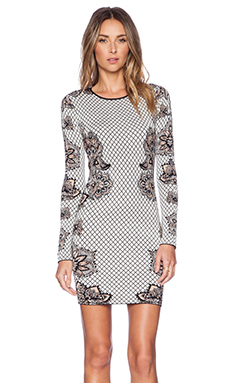 Torn by Ronny Kobo Mammie Dress in Black & Ivory