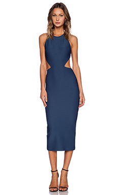 Torn by Ronny Kobo Karyn Dress in Dark Blue