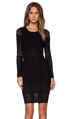 Torn by Ronny Kobo Anina Dress in Black