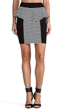 Torn by Ronny Kobo Lisa Skirt in Black/White Stripe
