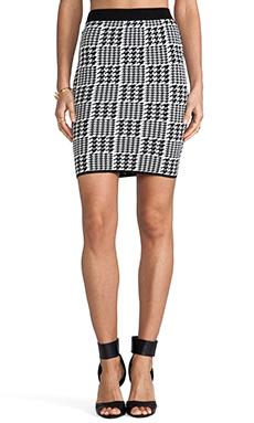Torn by Ronny Kobo Celine Scottish Plaid Skirt in Black/White