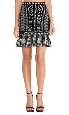 Torn by Ronny Kobo Shey Skirt in Black & Ivory