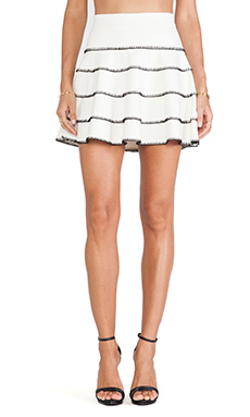 Torn by Ronny Kobo Angele Skirt in Ivory