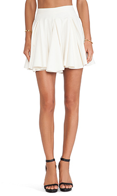 Torn by Ronny Kobo Gwen Skirt in Ivory