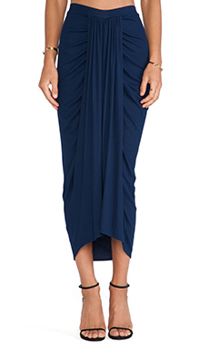 Torn by Ronny Kobo Scarlett Skirt in Navy