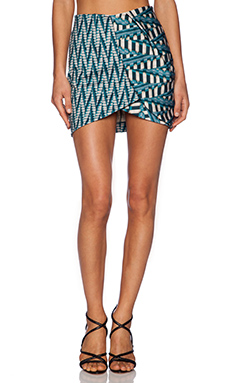 Torn by Ronny Kobo Lilo Skirt in Aqua Multi