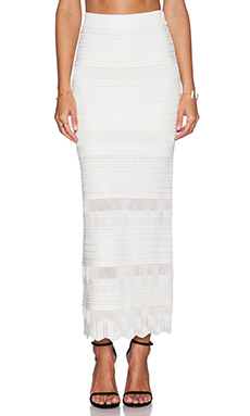 Torn by Ronny Kobo Nanette Skirt in White