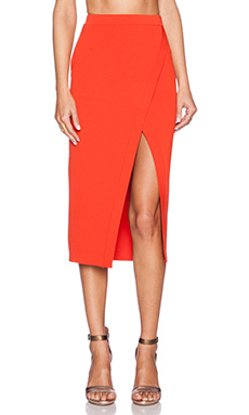 Torn by Ronny Kobo Katya Skirt in Vermillion
