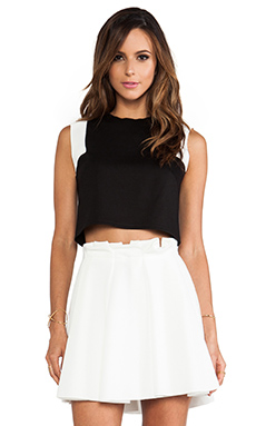 Torn by Ronny Kobo Daisy Top in Black & White