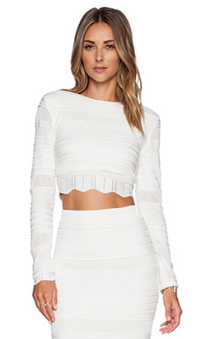 Torn by Torn by Ronny Kobo Arielle Top in White