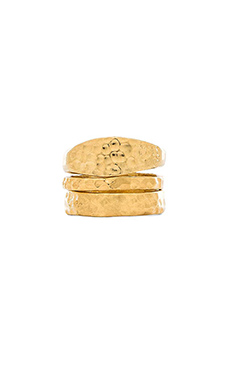 TORCHLIGHT Hammered Stacking Rings in Brass