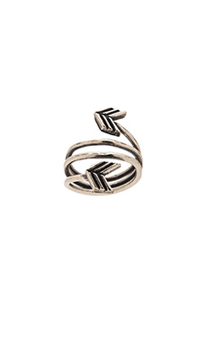 TORCHLIGHT Arrow Wrap Around Ring in Antique Silver