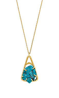 TORCHLIGHT Mayla Necklace in Turquoise & Gold