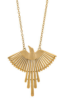 TORCHLIGHT Thunderbird Pendant in Brass