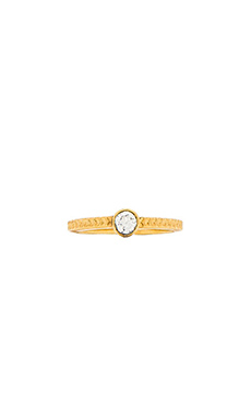 TORCHLIGHT Ursa Stacking Ring in White Stone & Gold