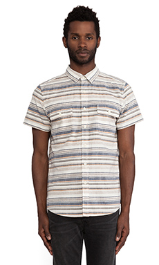 TOVAR Townsend Shirt in Yellow/Blue Stripe