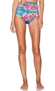 Trejoa Anna High Waist Bikini Bottom in Print C