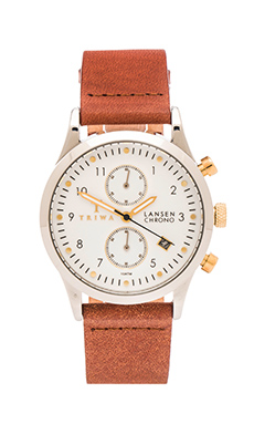 TRIWA Lansen Chrono in Ivory & Brown Classic