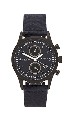 TRIWA Lansen Chrono in Dusk & Navy Canvas Classic