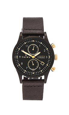 TRIWA Lansen Chrono in Midnight & Black Classic