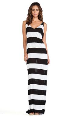 Tyler Rose Swimwear Brennan Maxi in Black & White